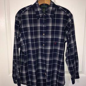Women's Ralph Lauren plaid shirt